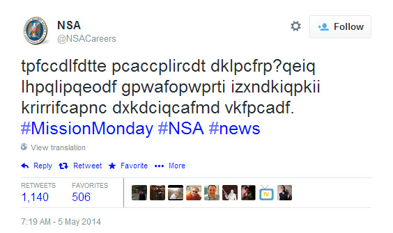 NSA Encrypted Tweet