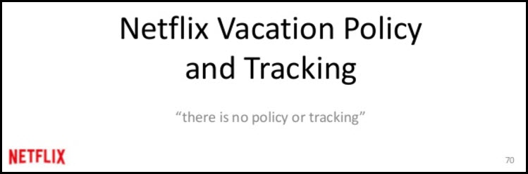 netflix culture deck vacation policy