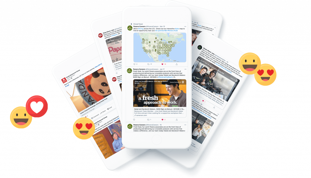 CareerArc client social recruiting examples in mobile phone
