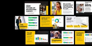 Pages from CareerArc's 2021 Future of Recruiting Study