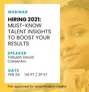 Hiring 2021 webinar speaker and date